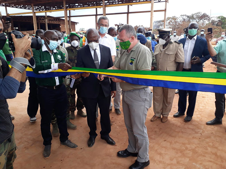 Gabon : Inauguration of the new Precious Woods CEB factory by Minister Lee White