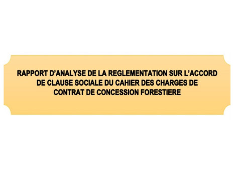 Regulation on the social contract clause agreement forest concession in DRC